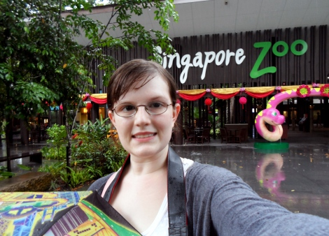 Soaking wet and still happy after a fun 5 hours of exploring Singapore Zoo
