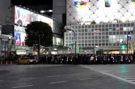 Excited to finally see Shibuya crosswalk