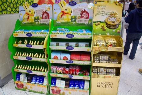 Easter candy displays all over Hong Kong
